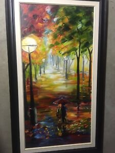 DEAL! 2 beautiful paintings by original artist (frame included)