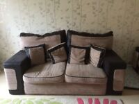Large cover sofa and 2 seater