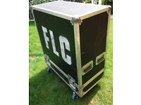 GUITAR CAB COMBO 4 X 12 PROFESSIONAL NSP FLIGHT CASE ON WHEELS