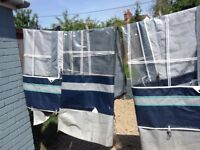 Isabella ambasender awning good condition with strong fibre poles size of the awning is a 820