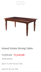 Bombay company dining table (Island Estate)