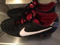 Black Nike Tiempo Football Boots UK 8.5 US 43