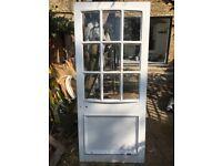 External Windowed Wooden Door For Sale