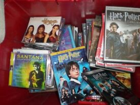 BOX FULL OF DVDs CDs ALL GENUINE NO COPIES