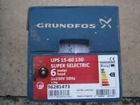 GRUNDFOS UPS 15/60 130 SELECTRIC CENTRAL HEATING BARE PUMP 96281473 BNIB