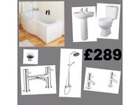 Full B Bath Suite including Thermostatic shower kit