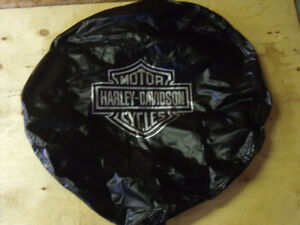 """LIKE NEW """" HARLEY DAVIDSON """" SPARE TIRE COVER"""