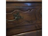 Antique French 18th century walnut cabinet and armoire for sale