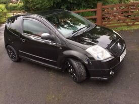 Citroen C2 Loeb 1.6 16v Black. excellent condition. Comes with many extras.