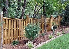 Discount chain link and wood fence.