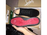 Christian Louboutin Suede Low top Spiked Men's Red Bottom Sneakers