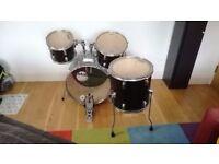"Millenium Drum Kit - 20"" Bass Drum, 14"" Floor Tom, 12"" & 10"" Toms - EVANS HEADS"