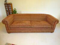 Highgrove Large Sofa in Albambra Stripe Gold