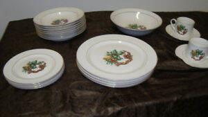 8 place setting Christmas dinner ware