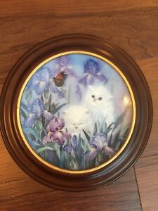 "W. J. George fine china ""Garden Discovery"" collectible plate"