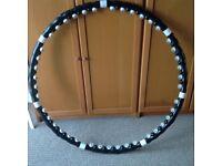 Acu Hoola Hoop with weighted massage blocks, 3ft across