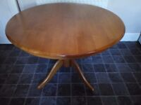 Kitchen Table - Round - Dining - Real Wood - Large 42 inches wide - heavy and solid table