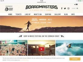 Boardmasters staff needed. Free arena tickets and camping....