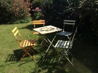 French garden table & 4 chairs