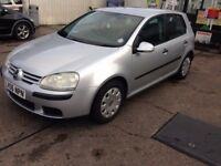 2006 VOLKSWAGEN GOLF 1.6 S FSI 5 DOOR HATCHBACK, MANUAL, PETROL, F/S/H, 1 YEARS MOT