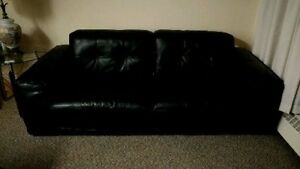 Scan Design Black Leather couch Like New $700