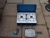 Dudley camping cooker twin burner and grill