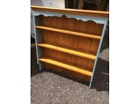 Lovely painted pine and waxed shelves