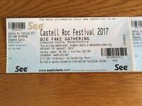 Castell roc tickets x 2, 25th aug.