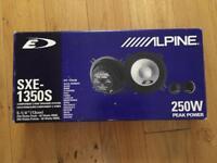 Alpine SXE-1350s 250w 2 way car speakers