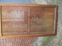 HONOURS BOARD FROM GOLF CLUB BUT CAN BE USED FOR OTHER SPORTS