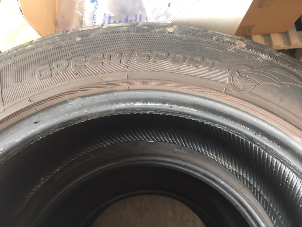 2xNankang GREEN SPORT RUNFLAT 245 50 18 tyres