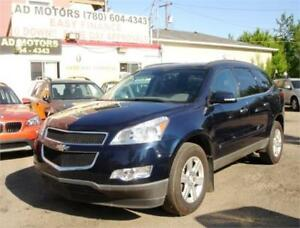 2010 CHEVROLET TRAVERSE LT AUTO 8 SEATER 116K-100% FINANCING!
