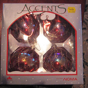 VINTAGE CHRISTMAS GLASS ORNAMENTS - NOMA ACCENTS