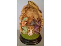 hand painted italy resin manger scene