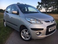 2010 HYUNDAI i10 COMFORT 1.2 WITH 12 MONTHS MOT. VERY LOW MILEAGE AT ONLY 24,000 MILES.£30 TAX