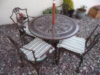 Metal Garden Patio Furniture Set