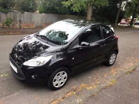 Ford Ka 1.2 Edge Petrol 2010 (10 reg) Manual 3 Door Hatchback Black £30 road tax 12 Months MOT.