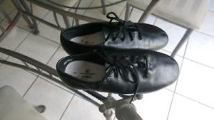 Girls black Jazz shoes size 2