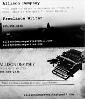 Allison Writes