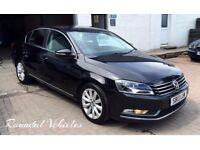 2013 Volkswagen Passat 2.0 Tdi Highline, Black with charcoal int, history and 12 months mot, LOVELY!