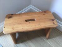 Pine stool, kiddies seat decor item.