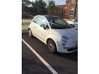 1.2 White Fiat 500 Lounge Hatchback