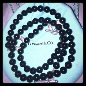 Tiffany & Co. Black Onyx Necklace and Bracelet
