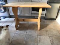 Solid pine table (dog not included)