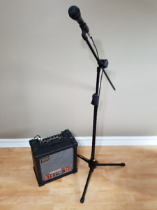 Mic/Stand/Amp combo