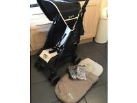 Pushchair by Bruin including FootMuff & Raincover