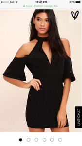 Black LuLu dress perfect for a wedding