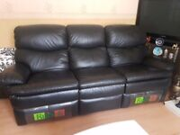 2 x 3 seater leather recline 1 x 2 seater very good condition £500