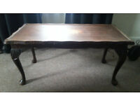 Solid Wood Mahogany Colour Coffee Table