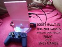 UPGRADED PLAYSTATION 2 PS2 SLIM PINK 500GB - 870 GAMES & WIRELESS CONTROLLER & MORE